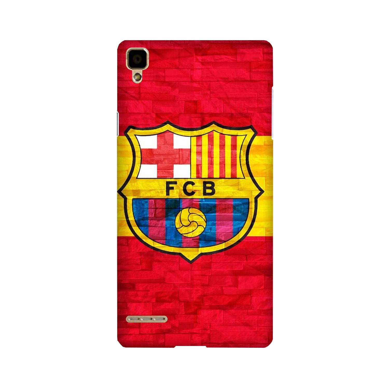 FCB Football Case for Oppo F1  (Design - 174)