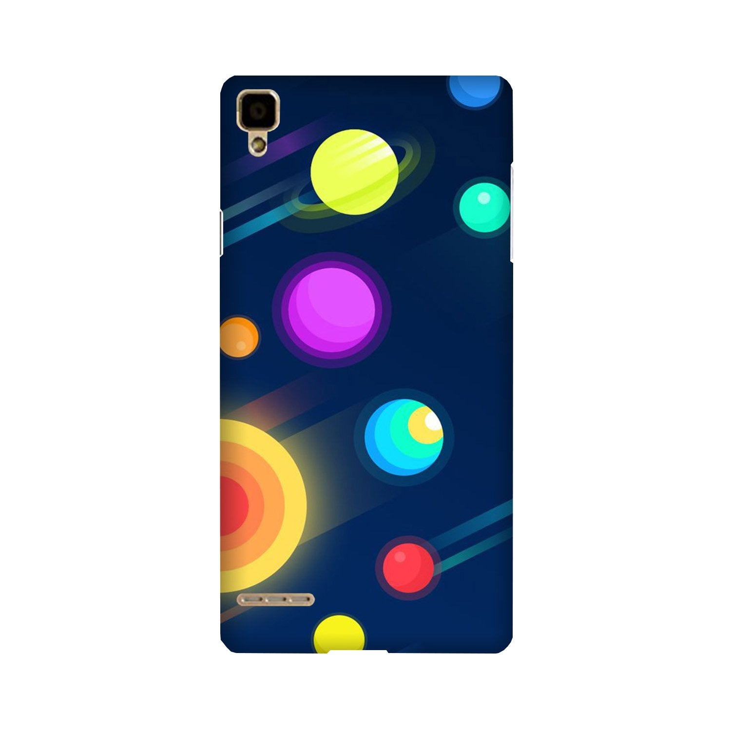 Solar Planet Case for Oppo F1 (Design - 197)