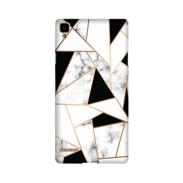 Marble Texture Mobile Back Case for Oppo F1  (Design - 322)