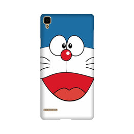 Doremon Mobile Back Case for Oppo F1  (Design - 340)