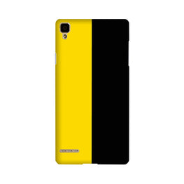 Black Yellow Pattern Mobile Back Case for Oppo F1  (Design - 397)