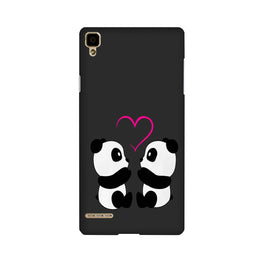 Panda Love Mobile Back Case for Oppo F1  (Design - 398)