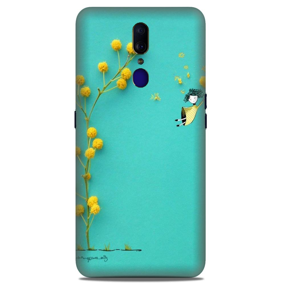 Flowers Girl Case for Oppo A9 (Design No. 216)