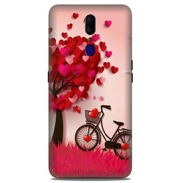 Red Heart Cycle Case for Oppo F11  (Design No. 222)
