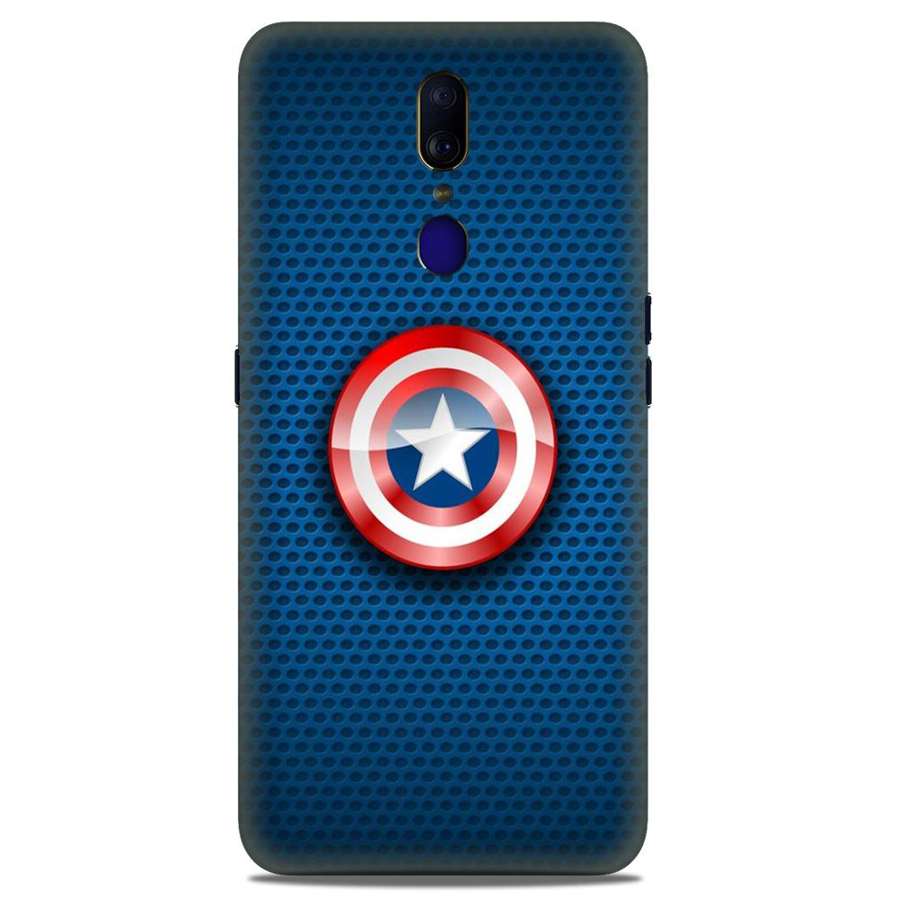 Captain America Shield Case for Oppo F11  (Design No. 253)