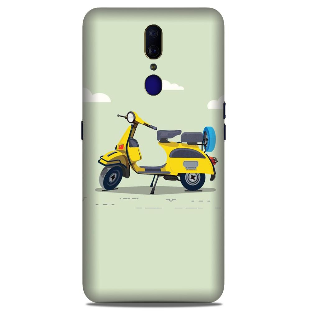 Vintage Scooter Case for Oppo A9 (Design No. 260)