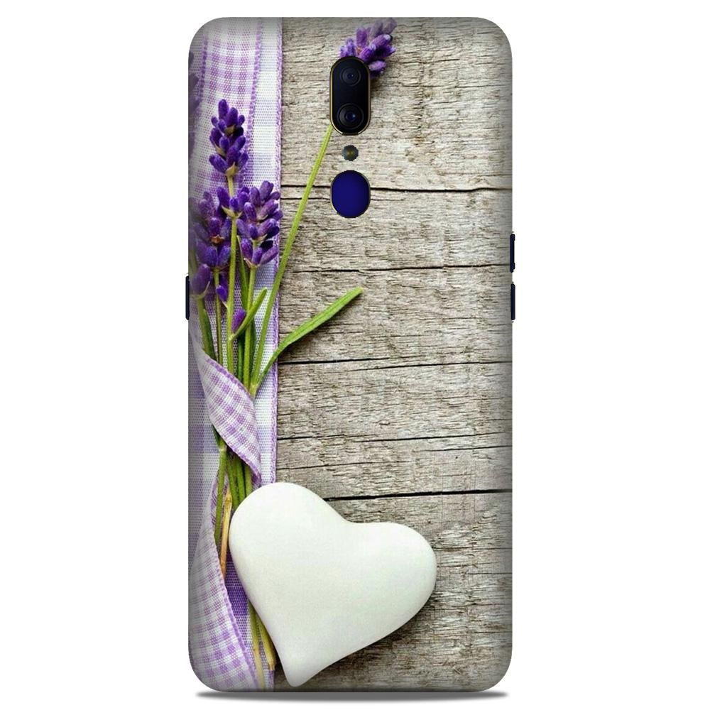 White Heart Case for Oppo A9 (Design No. 298)