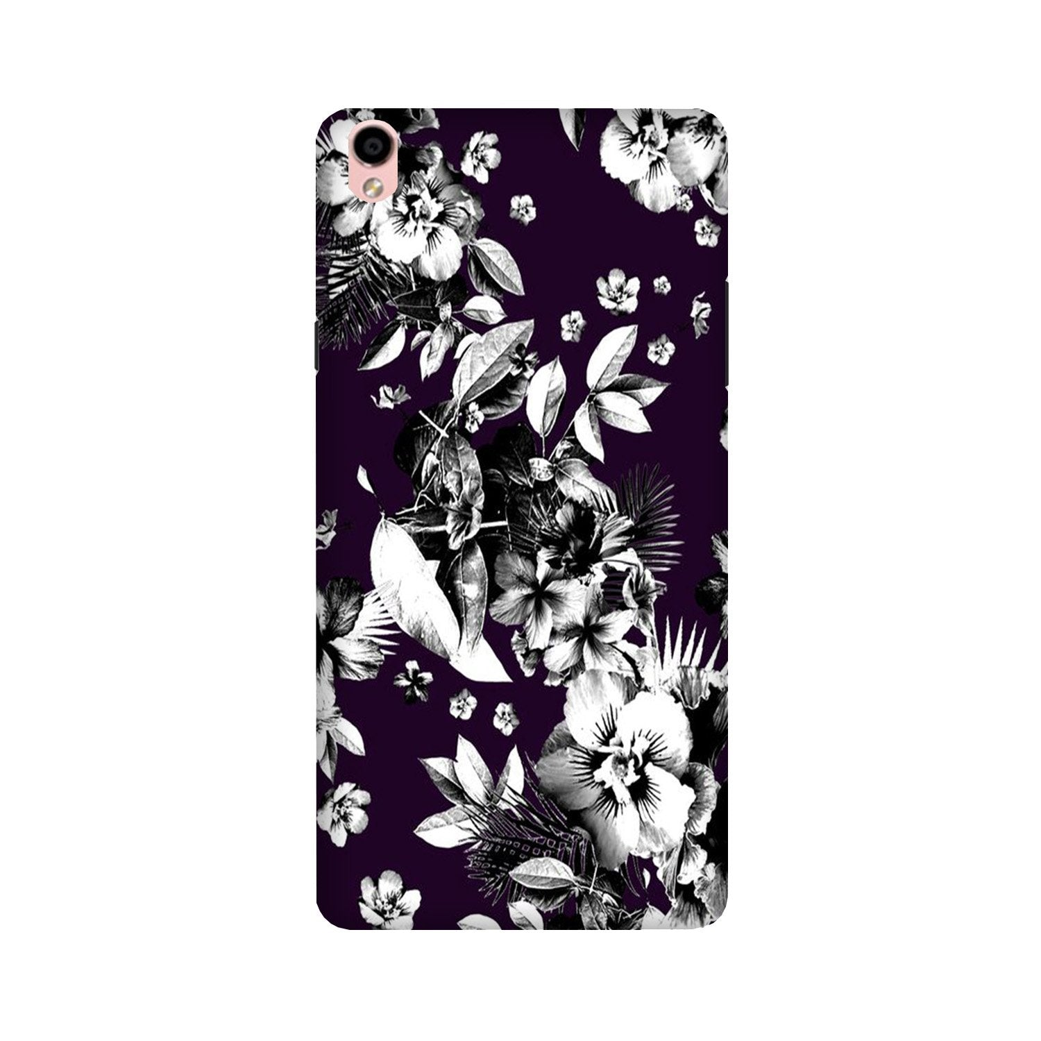white flowers Case for Oppo F1 Plus