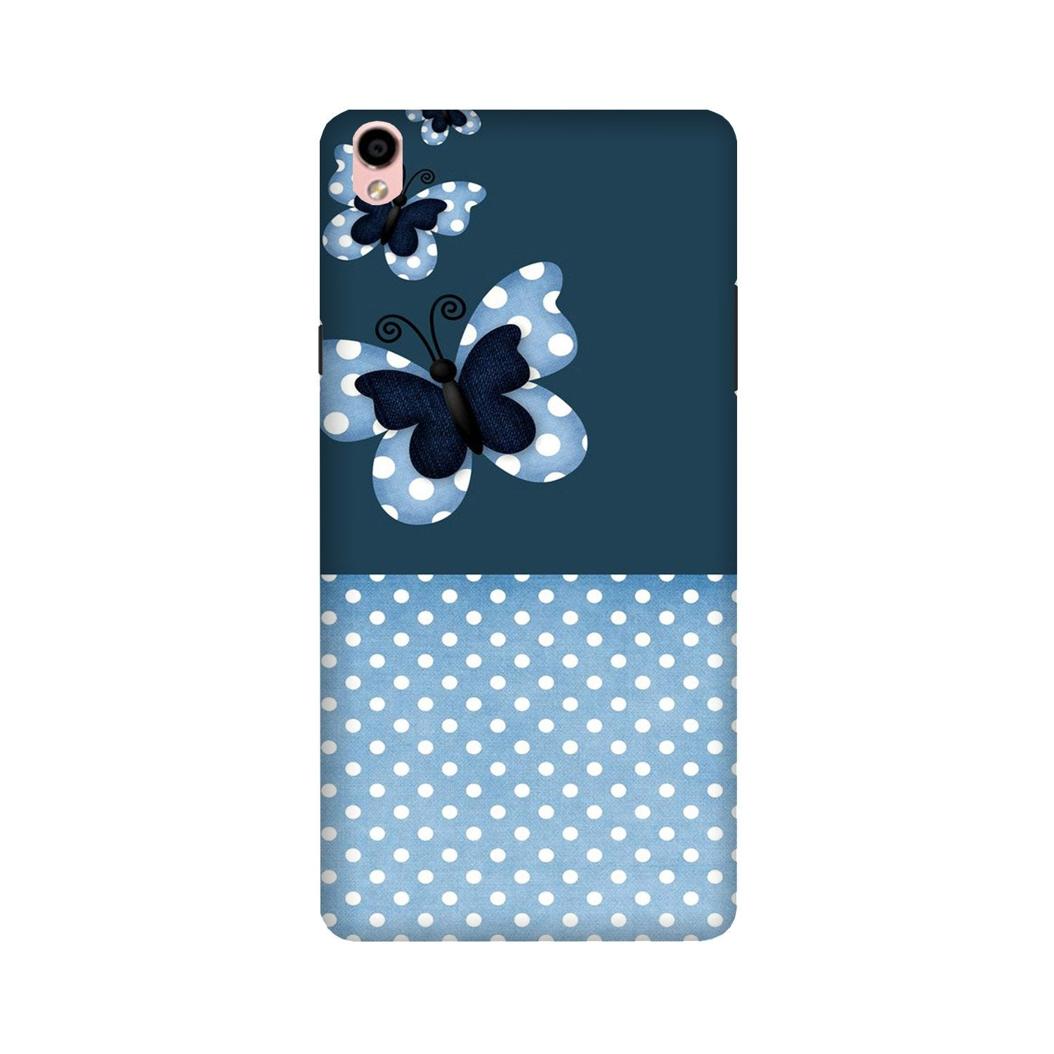 White dots Butterfly Case for Oppo F1 Plus