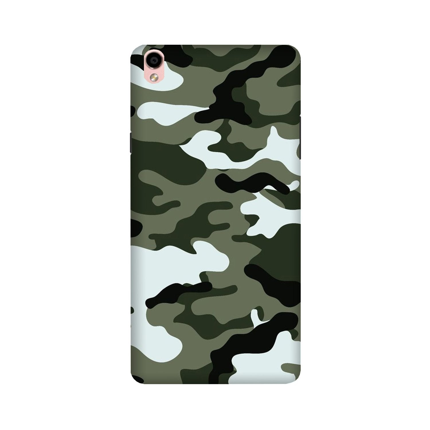 Army Camouflage Case for Oppo F1 Plus  (Design - 108)