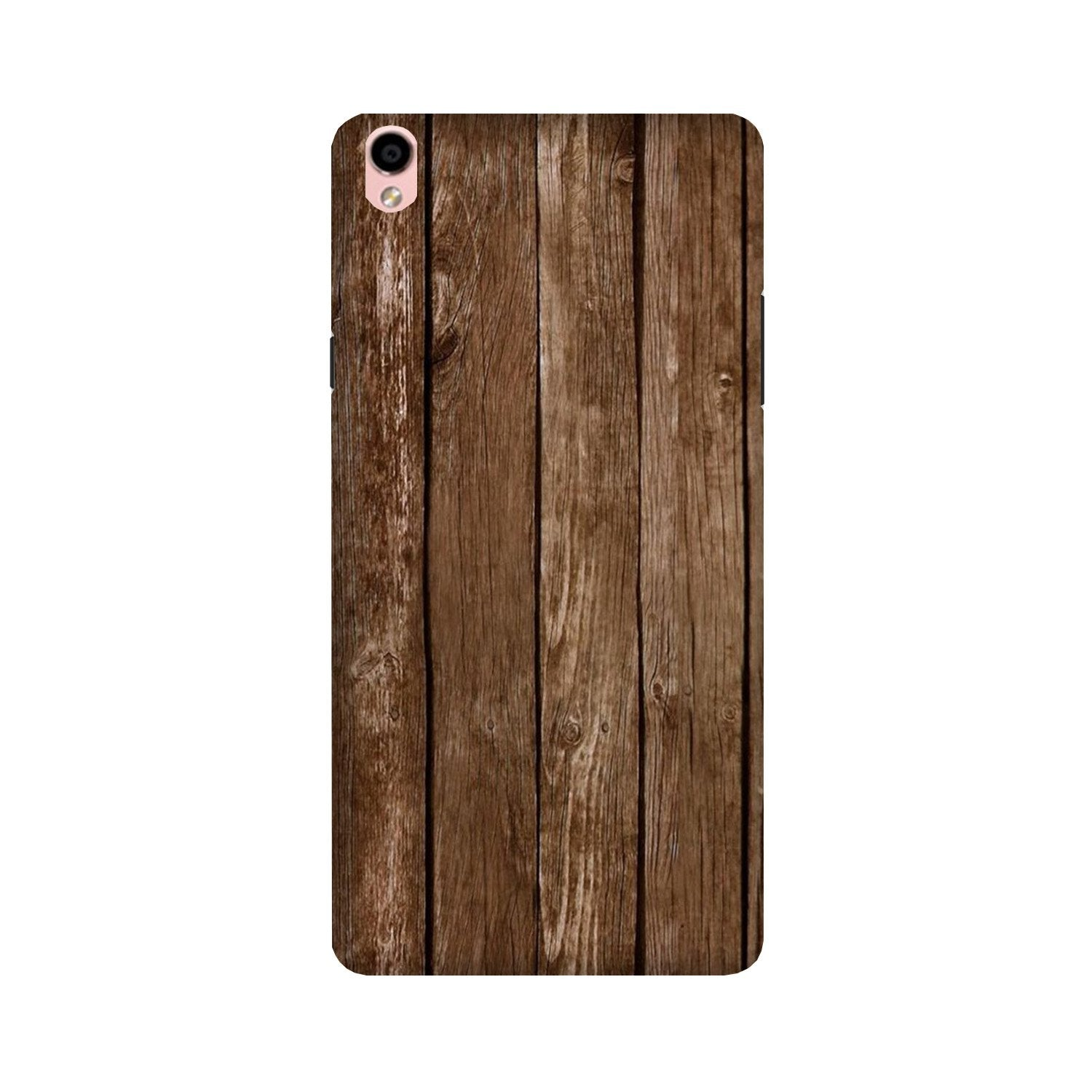 Wooden Look Case for Oppo F1 Plus  (Design - 112)