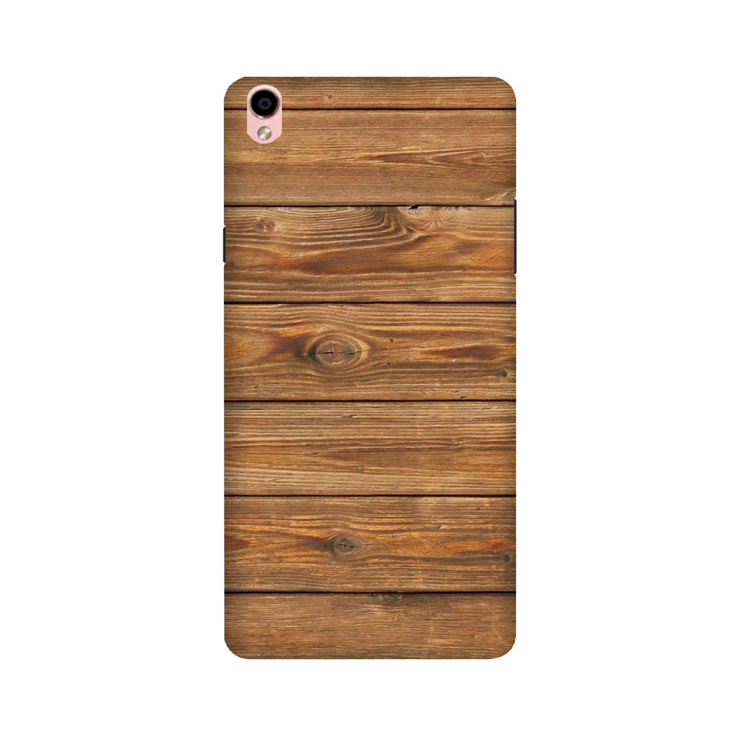 Wooden Look Case for Oppo F1 Plus  (Design - 113)