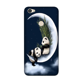 Panda Moon Mobile Back Case for Oppo F7  (Design - 318)