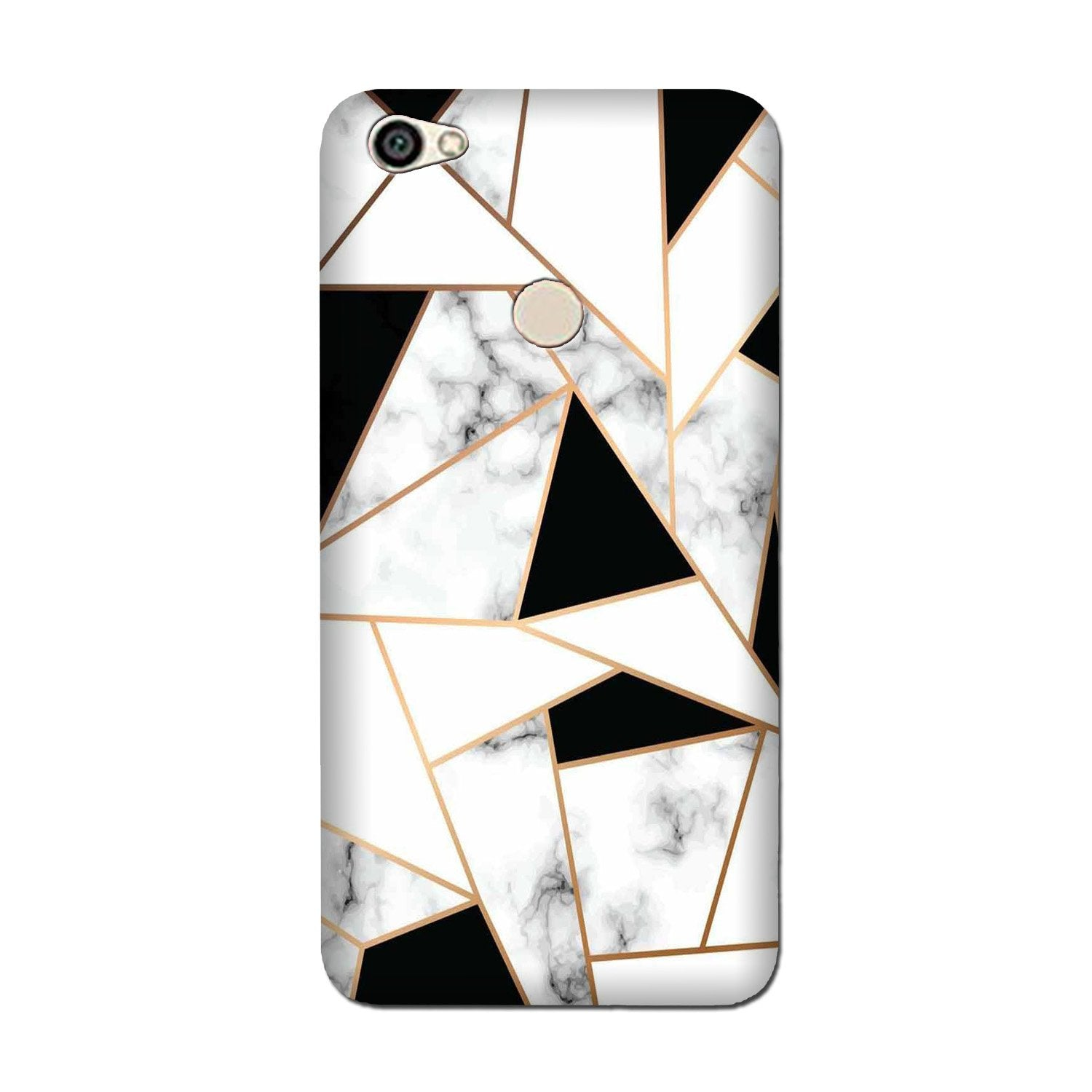 Marble Texture Mobile Back Case for Oppo F5 (Design - 322)