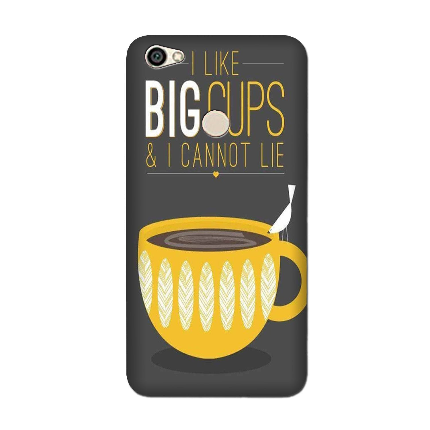 Big Cups Coffee Mobile Back Case for Oppo F5 (Design - 352)