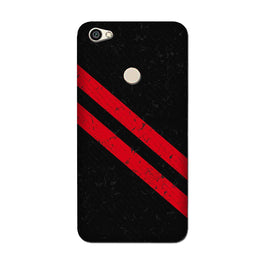 Black Red Pattern Mobile Back Case for Oppo F7  (Design - 373)