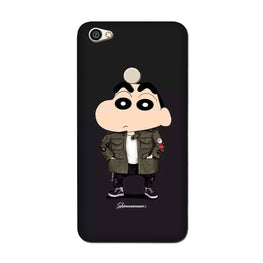 Shin Chan Mobile Back Case for Oppo F7  (Design - 391)