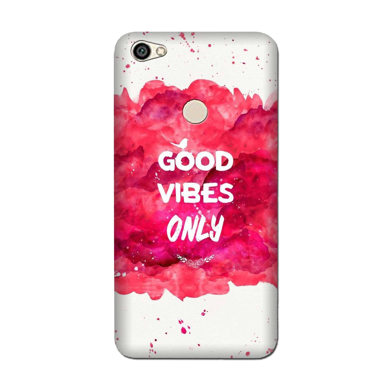 Good Vibes Only Mobile Back Case for Oppo F5 (Design - 393)