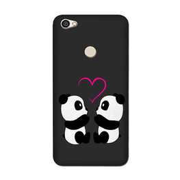 Panda Love Mobile Back Case for Oppo F7  (Design - 398)