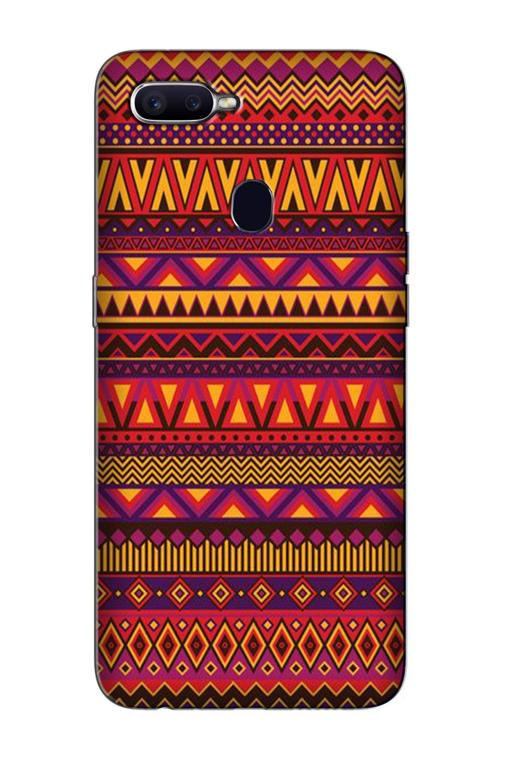 Zigzag line pattern2 Case for Oppo F9 Pro
