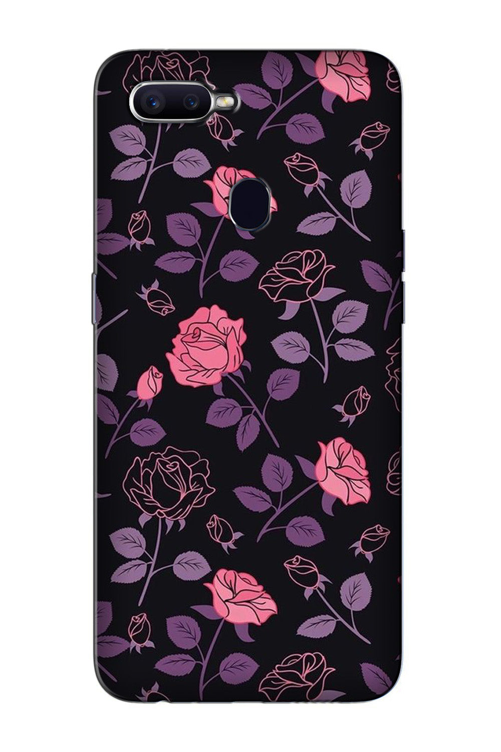 Rose Black Background Case for Oppo F9 Pro