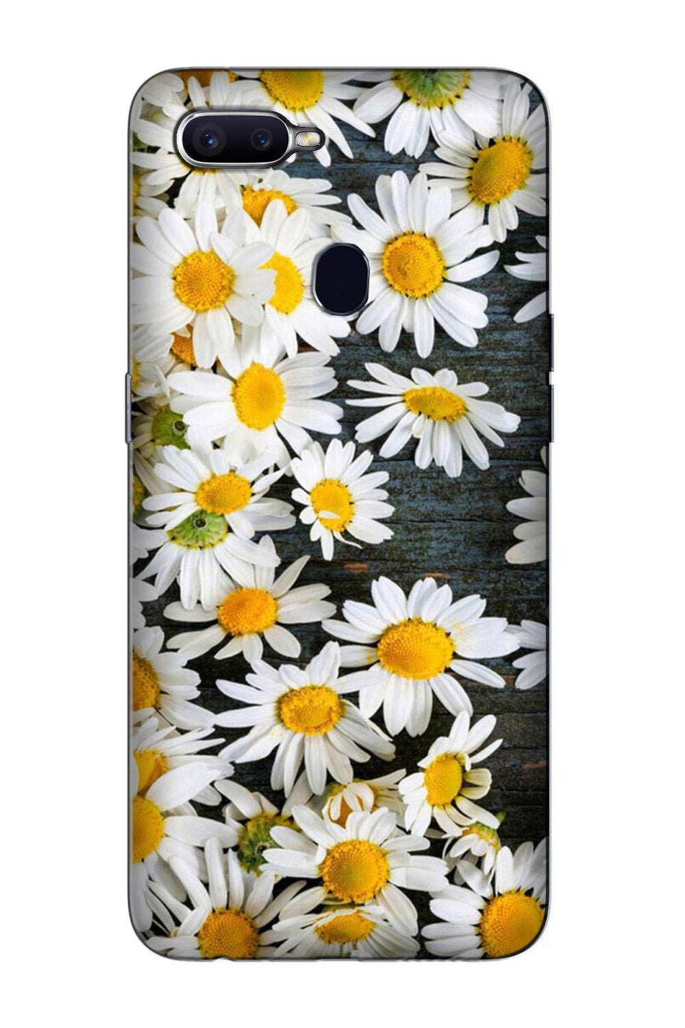 White flowers Case for Oppo F9 Pro