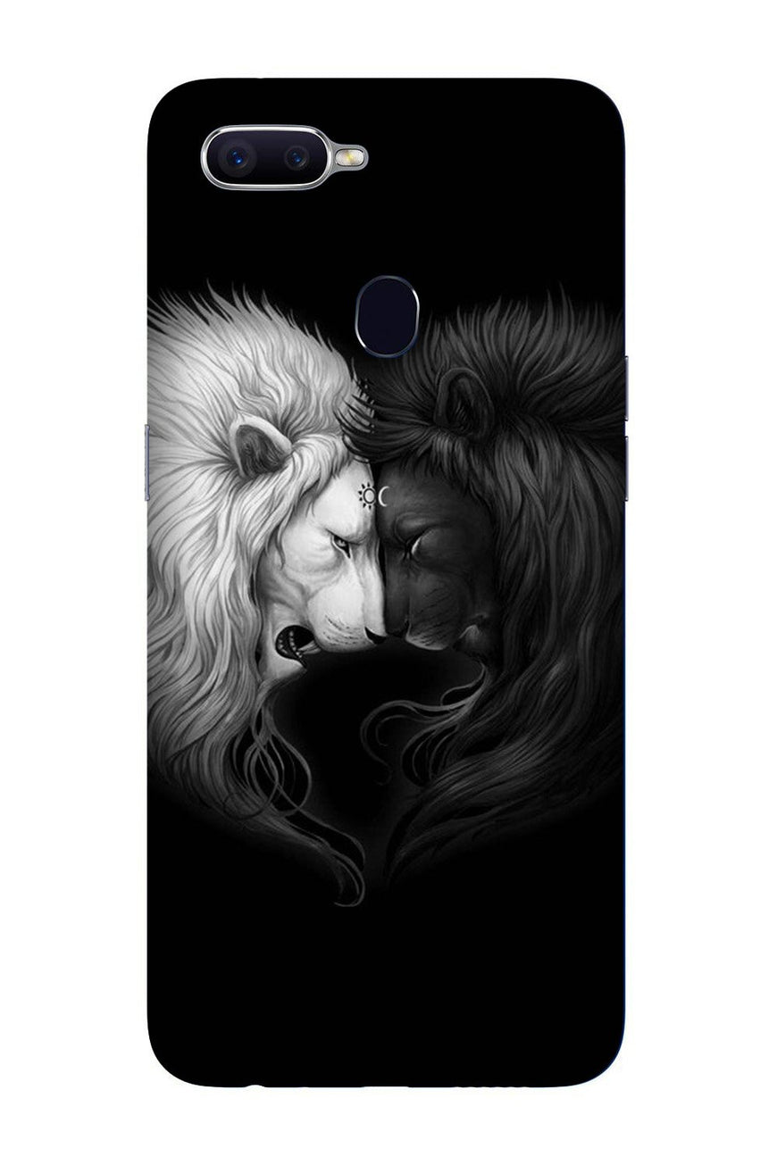 Dark White Lion Case for Oppo F9 Pro  (Design - 140)