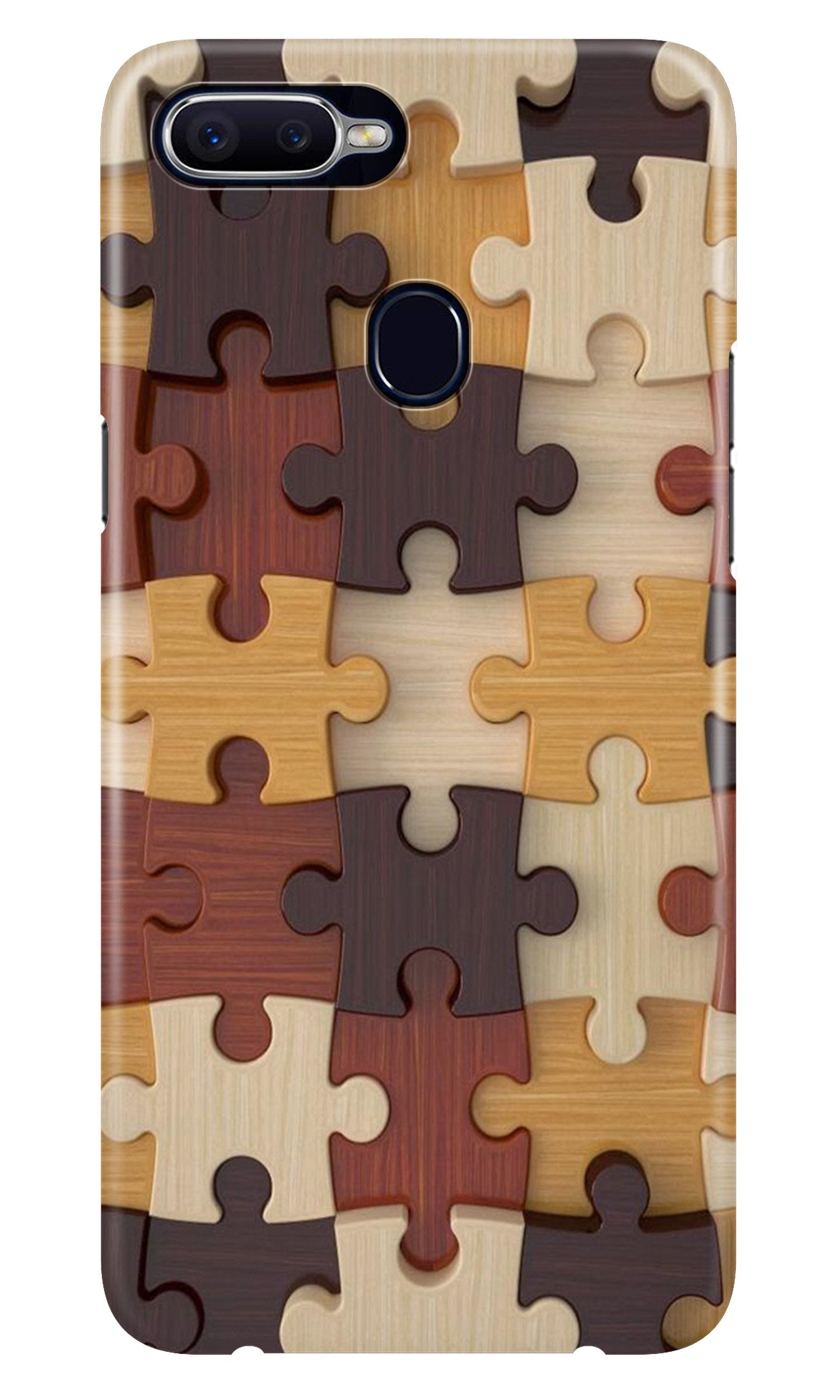 Puzzle Pattern Case for Oppo A5s (Design No. 217)