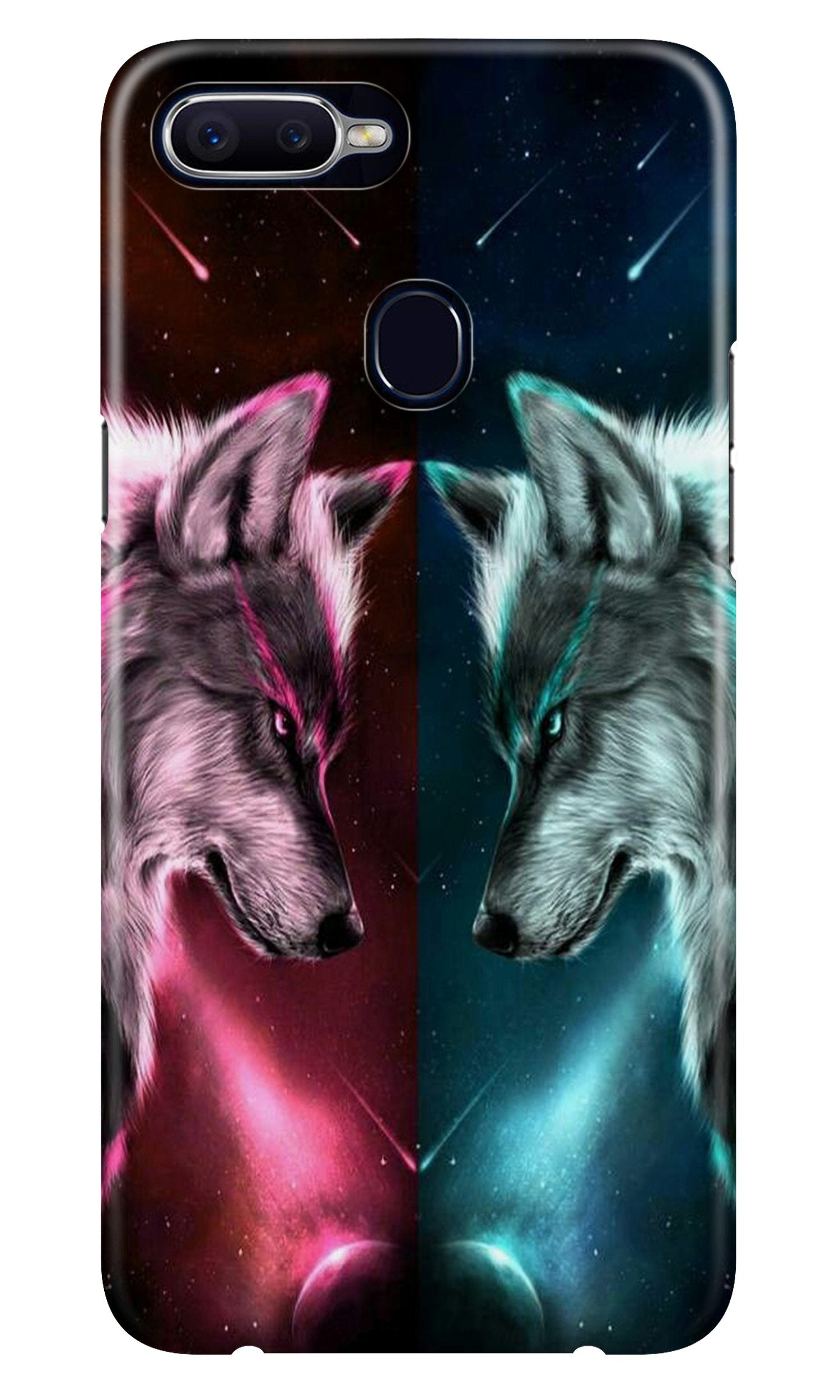 Wolf fight Case for Oppo A5s (Design No. 221)