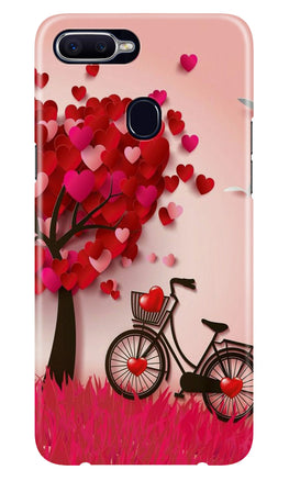 Red Heart Cycle Case for Realme 2 (Design No. 222)