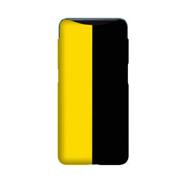 Black Yellow Pattern Mobile Back Case for Oppo Find X  (Design - 397)
