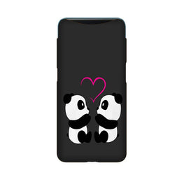 Panda Love Mobile Back Case for Oppo Find X  (Design - 398)