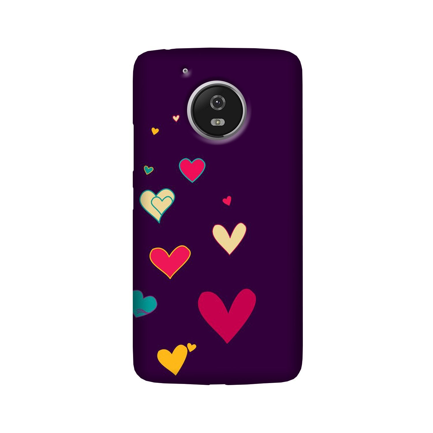 Purple Background Case for Moto G5 Plus  (Design - 107)