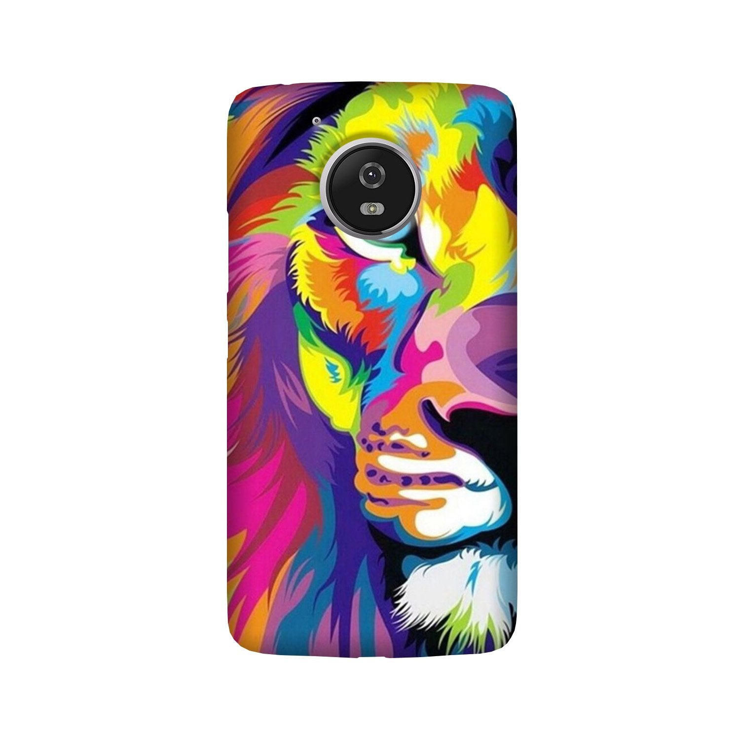 Colorful Lion Case for Moto G5 Plus  (Design - 110)