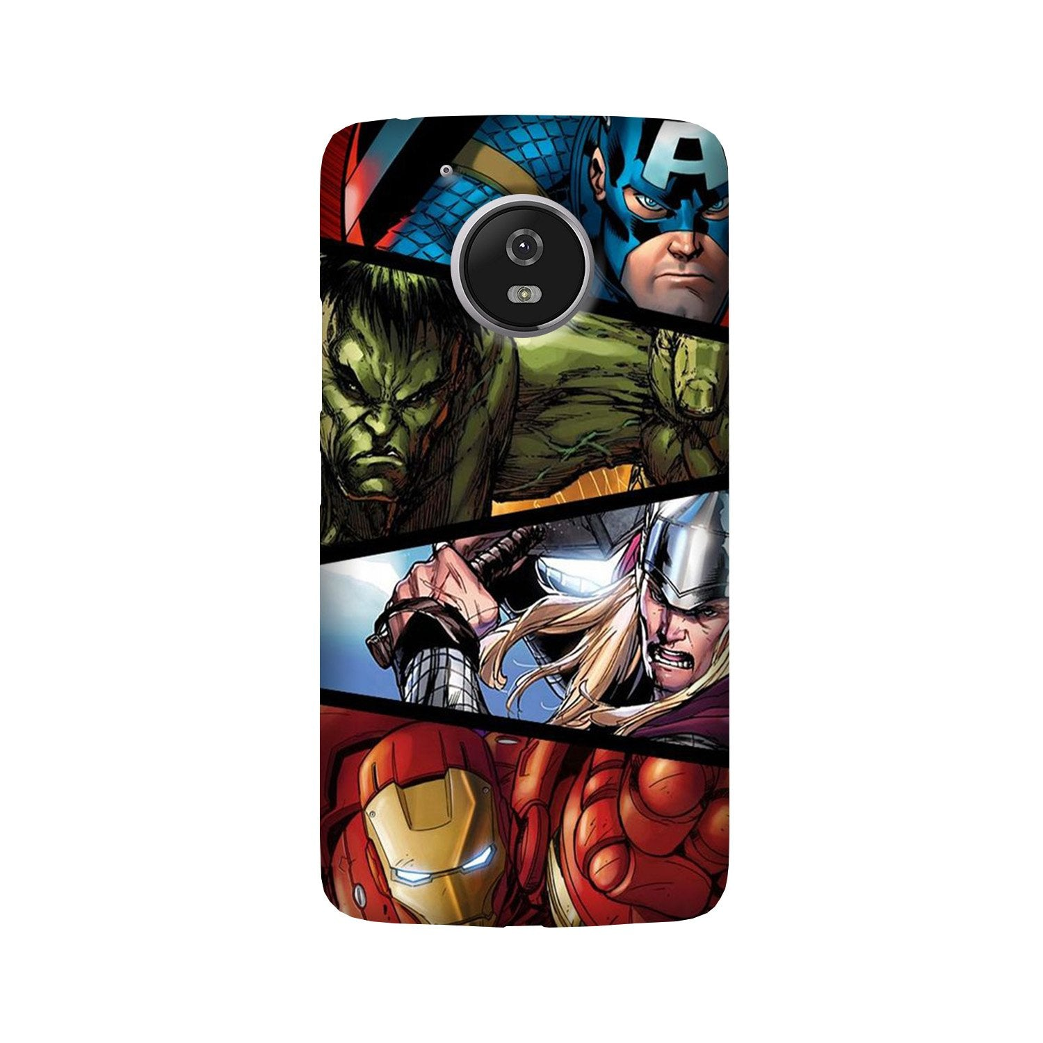 Avengers Superhero Case for Moto G5 Plus  (Design - 124)