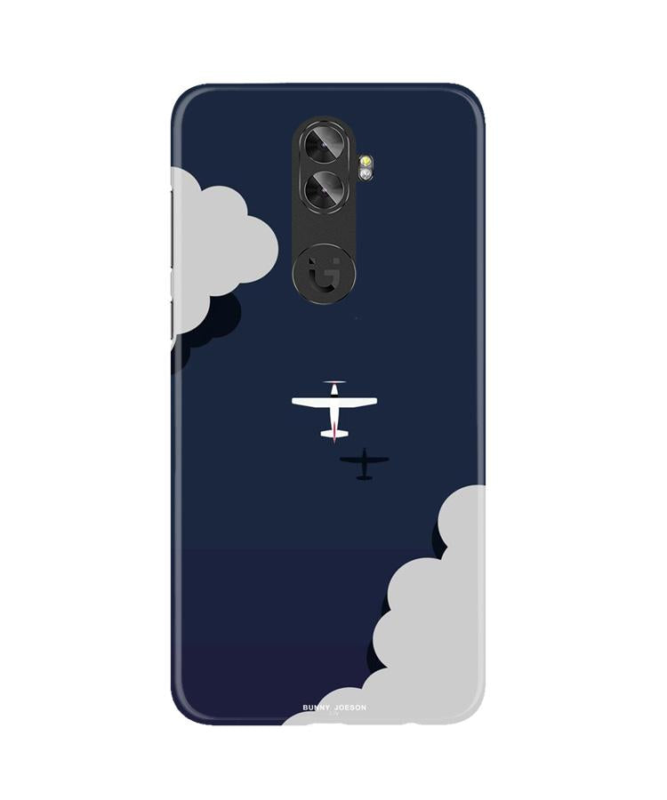 Clouds Plane Case for Gionee A1 Plus (Design - 196)