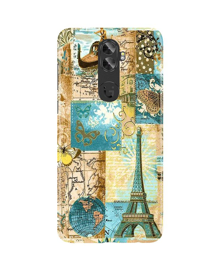 Travel Eiffel Tower Case for Gionee A1 Plus (Design No. 206)