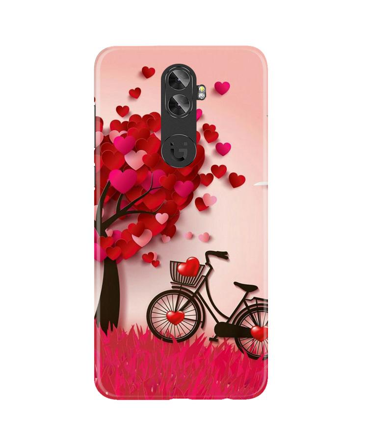 Red Heart Cycle Case for Gionee A1 Plus (Design No. 222)
