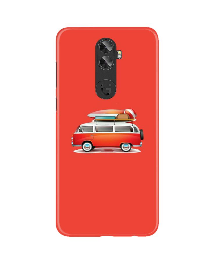 Travel Bus Case for Gionee A1 Plus (Design No. 258)