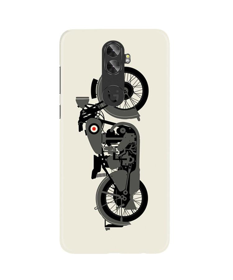 MotorCycle Case for Gionee A1 Plus (Design No. 259)