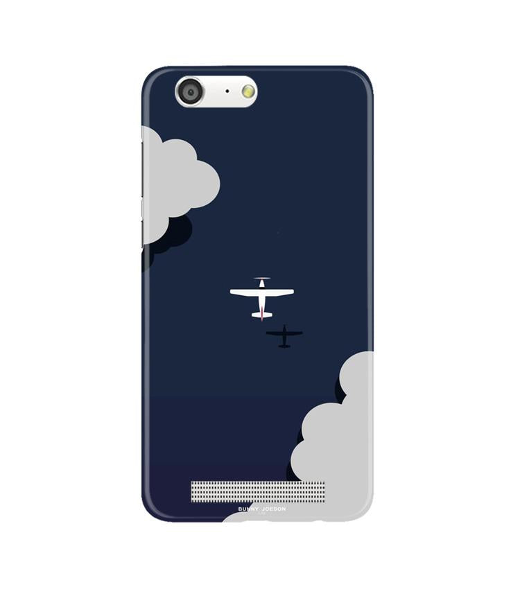Clouds Plane Case for Gionee M5 (Design - 196)