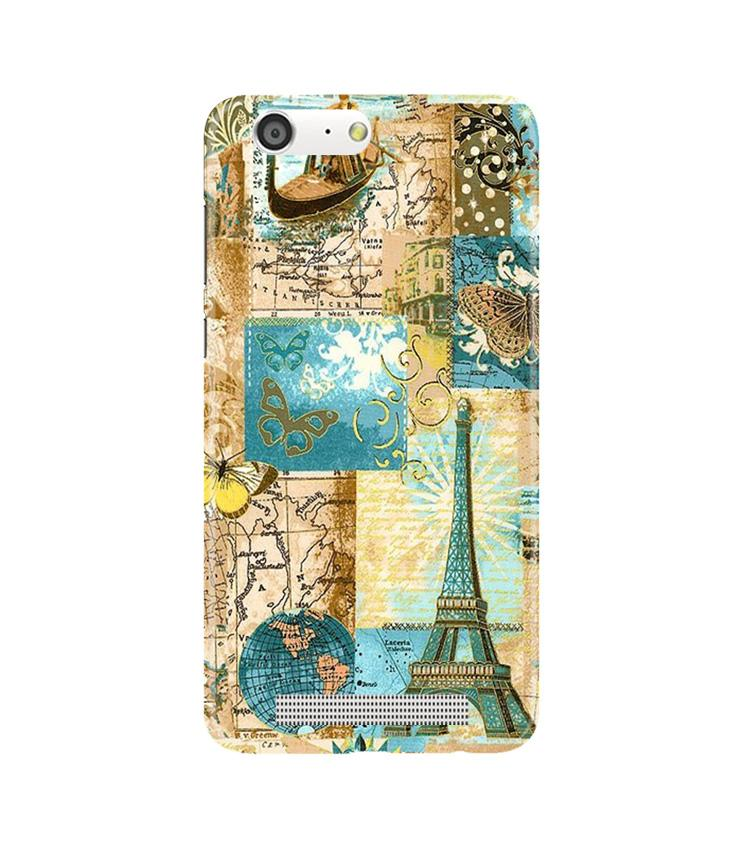 Travel Eiffel Tower Case for Gionee M5 (Design No. 206)