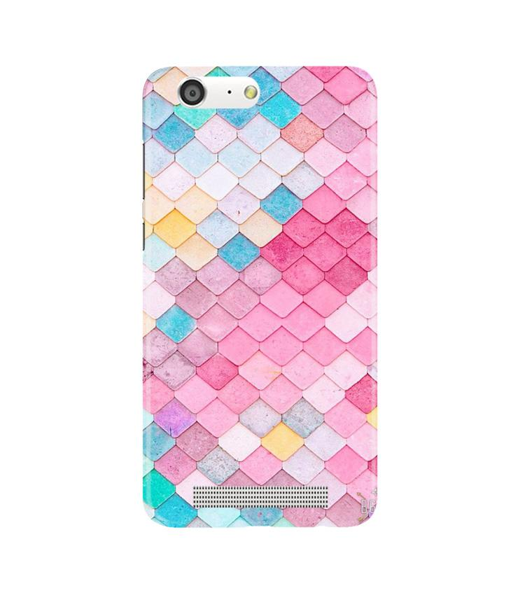 Pink Pattern Case for Gionee M5 (Design No. 215)