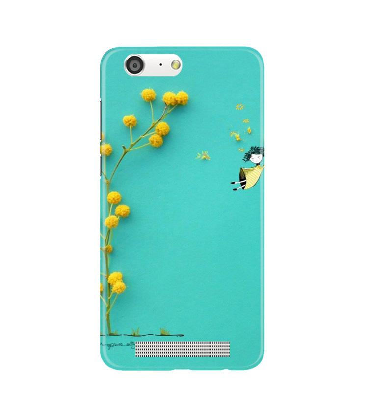 Flowers Girl Case for Gionee M5 (Design No. 216)