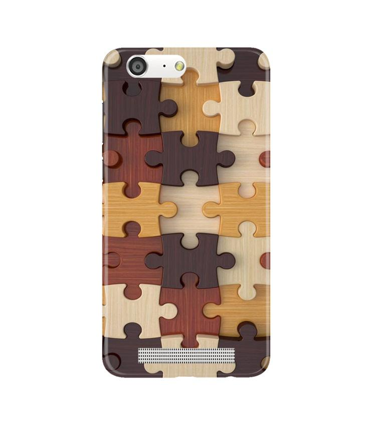 Puzzle Pattern Case for Gionee M5 (Design No. 217)