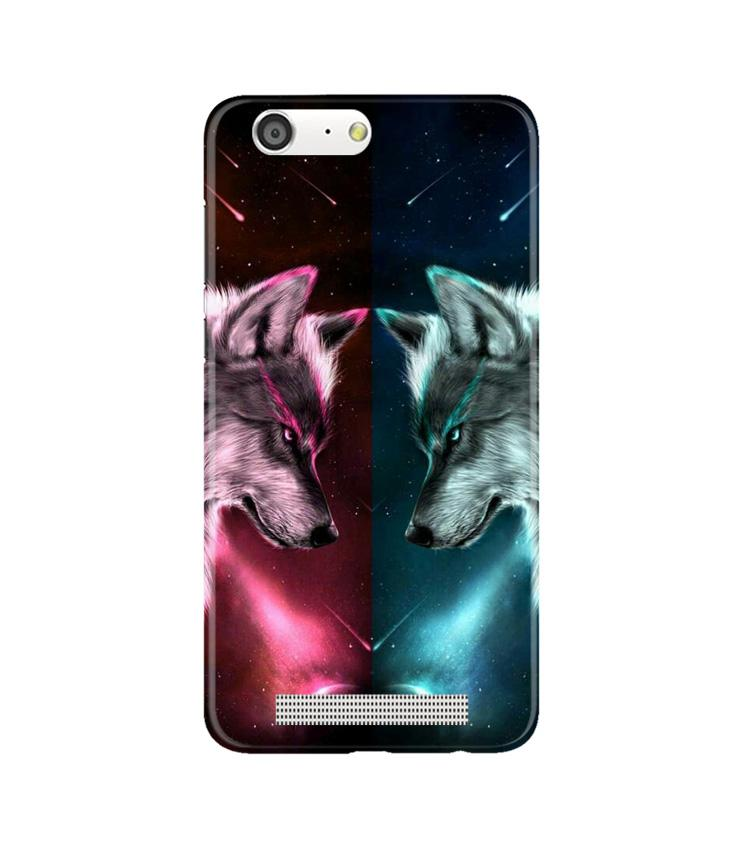 Wolf fight Case for Gionee M5 (Design No. 221)