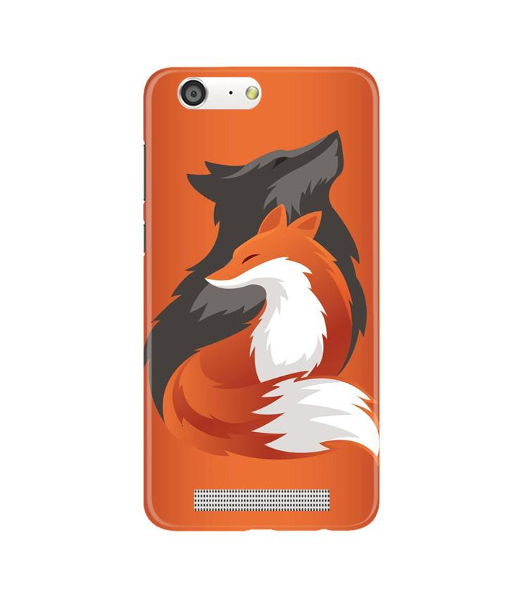 Wolf  Case for Gionee M5 (Design No. 224)