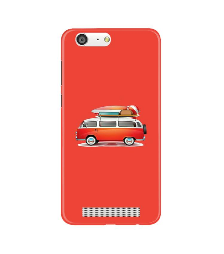 Travel Bus Case for Gionee M5 (Design No. 258)