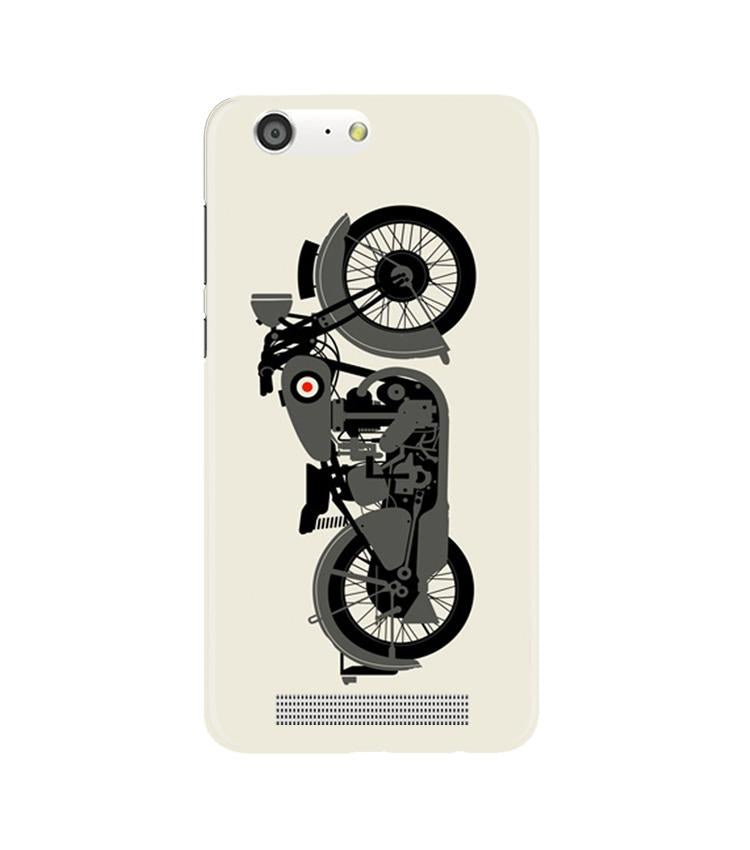 MotorCycle Case for Gionee M5 (Design No. 259)