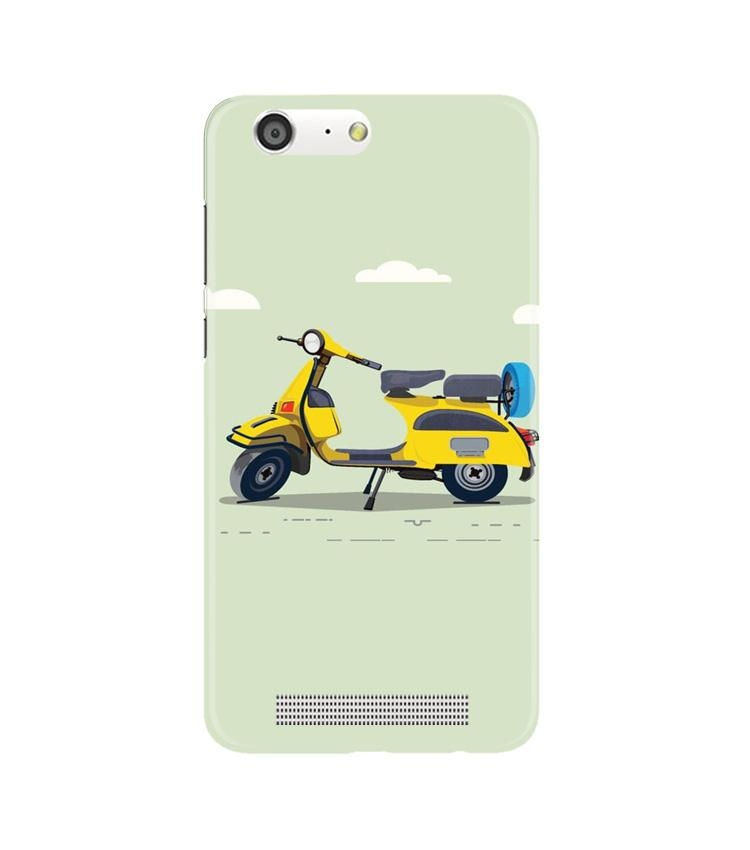 Vintage Scooter Case for Gionee M5 (Design No. 260)